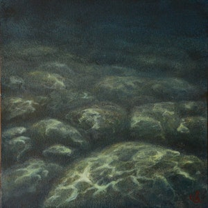 (CreativeWork) Tidal Studies VIII by Catherine Stringer. oil-painting. Shop online at Bluethumb.