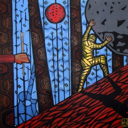 (CreativeWork) SISYPHUS by Rolfe Knudsen. arcylic-painting. Shop online at Bluethumb.