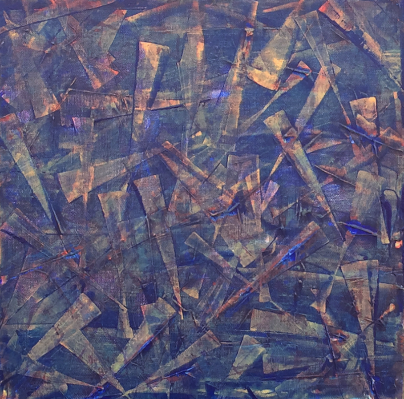 (CreativeWork) Purple shards by Mitchell Ward. Acrylic Paint. Shop online at Bluethumb.