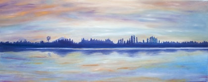 (CreativeWork) The Lake by Alexey Prokopenko. oil-painting. Shop online at Bluethumb.