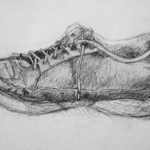 (CreativeWork) Drawing - shoe by Ishbel Morag Miller. drawing. Shop online at Bluethumb.