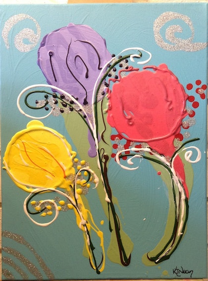 (CreativeWork) Lollipops by Kimberley Nean. arcylic-painting. Shop online at Bluethumb.