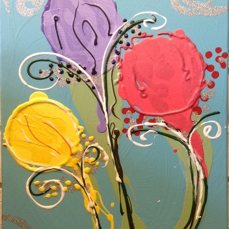 (CreativeWork) Lollipops by Kimberley Nean. Acrylic Paint. Shop online at Bluethumb.