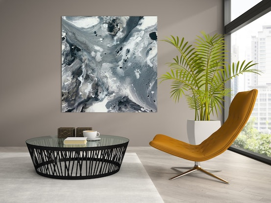 (CreativeWork) Seascape in Shades of Grey by Andrea Edwards. #<Filter:0x00007f3c36ac6560>. Shop online at Bluethumb.