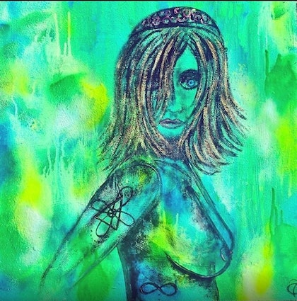 (CreativeWork) Eco Warrior  by tracey grivell. mixed-media. Shop online at Bluethumb.