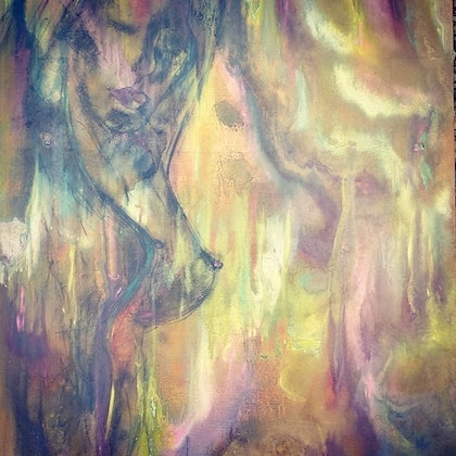 (CreativeWork) Raw emotion 1 by tracey grivell. mixed-media. Shop online at Bluethumb.