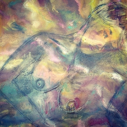 (CreativeWork) Raw emotion 2 by tracey grivell. mixed-media. Shop online at Bluethumb.