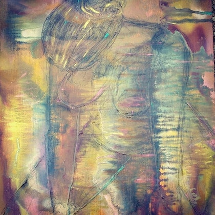 (CreativeWork) Raw emotion 3 by tracey grivell. mixed-media. Shop online at Bluethumb.