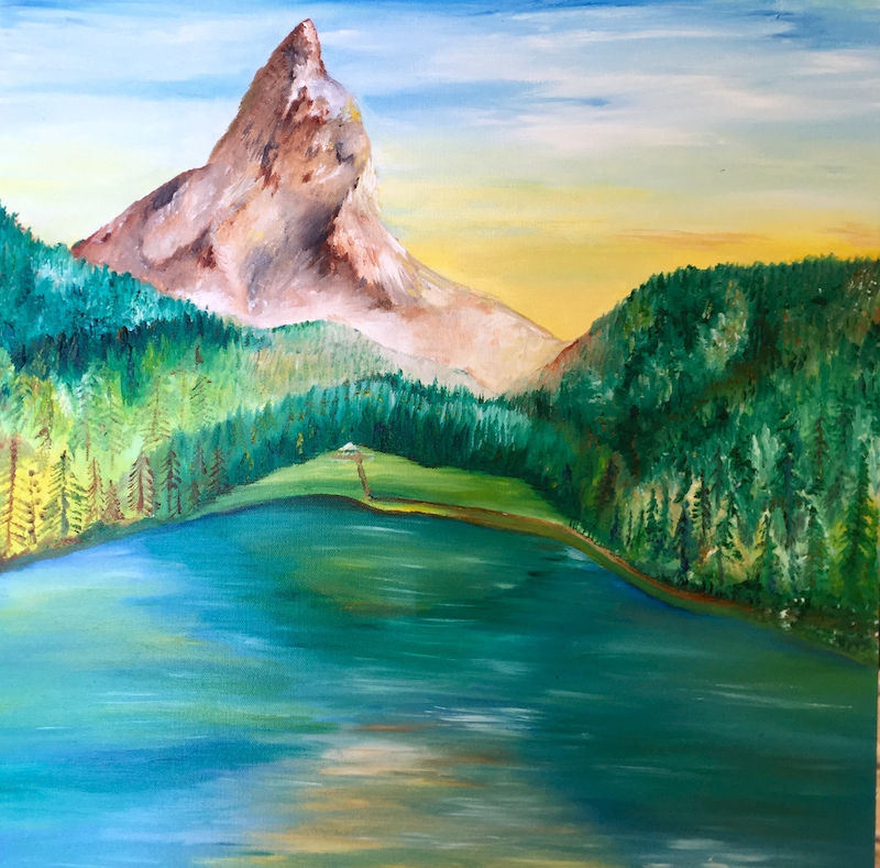 (CreativeWork) Serenity by Shaun Moore. oil-painting. Shop online at Bluethumb.