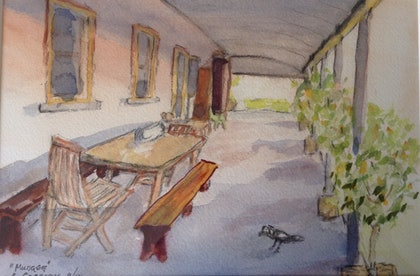 (CreativeWork) Mudgee by Carole Cassidy. watercolour. Shop online at Bluethumb.