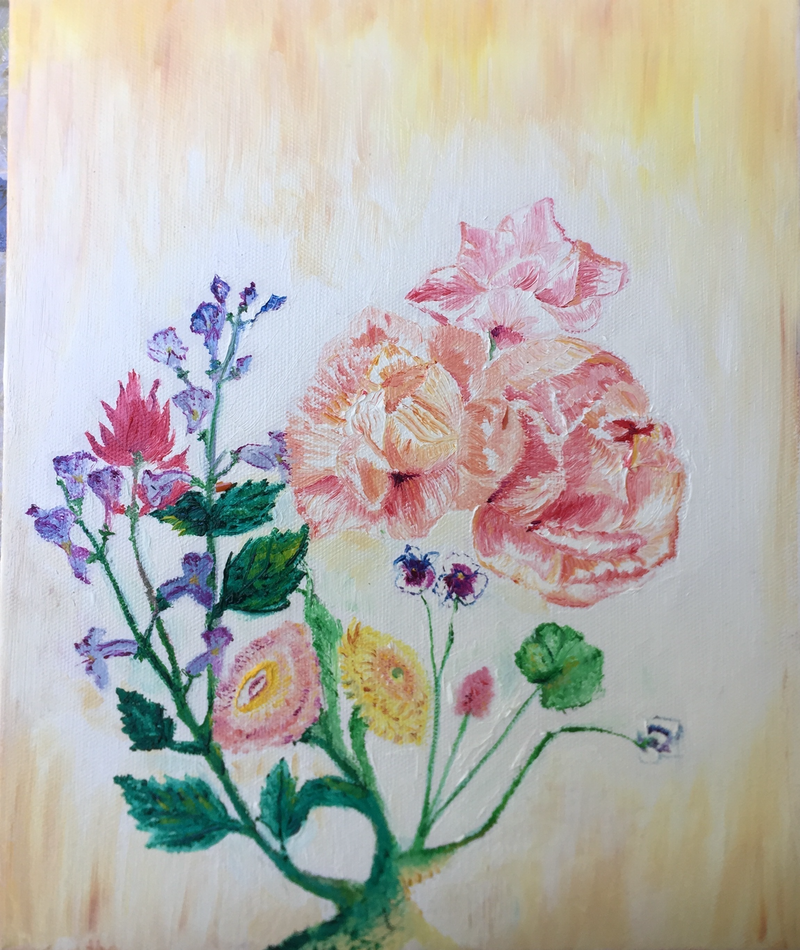 (CreativeWork) Azalea by Shaun Moore. oil-painting. Shop online at Bluethumb.