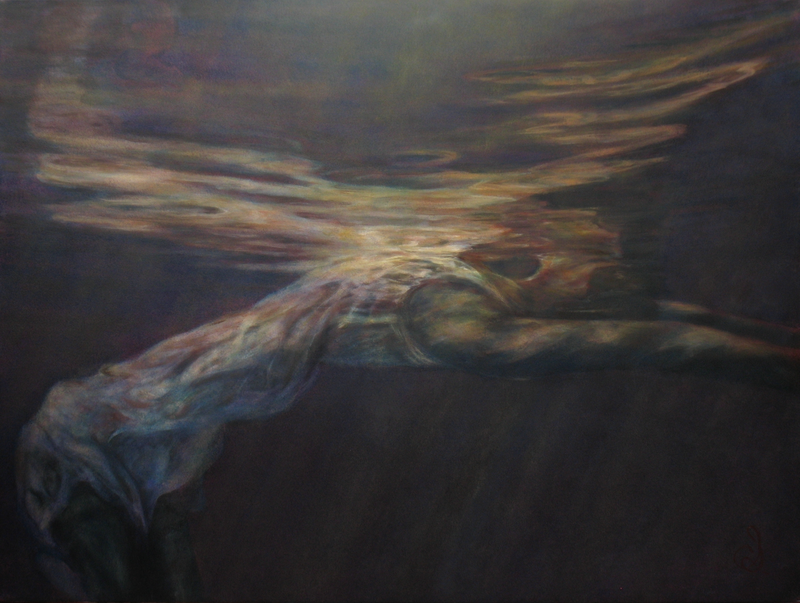 (CreativeWork) Sometimes you have to bend over backwards (if you want to see the light) by Catherine Stringer. oil-painting. Shop online at Bluethumb.
