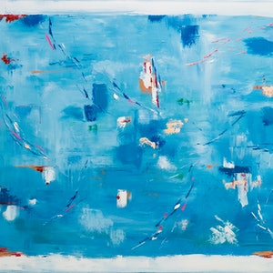 (CreativeWork) AQUA III  by Tatiana Vasiljeva. oil-painting. Shop online at Bluethumb.