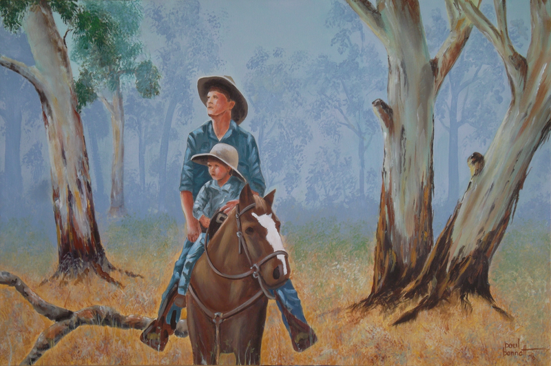 (CreativeWork) The Apprentice by Paul Bennett. arcylic-painting. Shop online at Bluethumb.