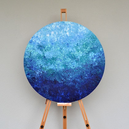 (CreativeWork) Wave Rolling by Stefania Shevchenko. arcylic-painting. Shop online at Bluethumb.