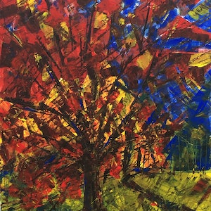 (CreativeWork) Autumn Light by Mitchell Ward. Acrylic Paint. Shop online at Bluethumb.