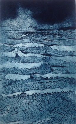 (CreativeWork) incoming tide by Jet James. Mixed Media. Shop online at Bluethumb.