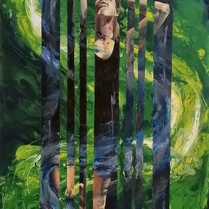 (CreativeWork) Stressed 2 - Overcoming by Jodie Price. arcylic-painting. Shop online at Bluethumb.