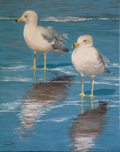 (CreativeWork) Cool feet by Paul Bennett. oil-painting. Shop online at Bluethumb.
