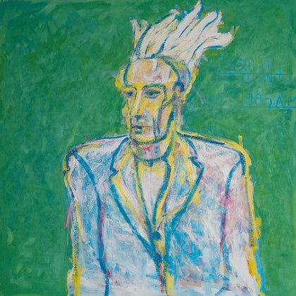 (CreativeWork) Convict by Matthew Kane. arcylic-painting. Shop online at Bluethumb.
