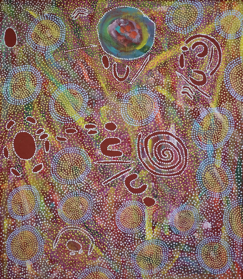 (CreativeWork) The Ngaturn Rock Hole 2 by Ethel (Narelle) Holland. Acrylic Paint. Shop online at Bluethumb.