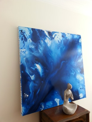 (CreativeWork) Into Blue by Andrea Edwards. #<Filter:0x0000560970537aa8>. Shop online at Bluethumb.