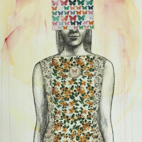(CreativeWork) Love Will Set You Free by Leah Mariani. Mixed Media. Shop online at Bluethumb.