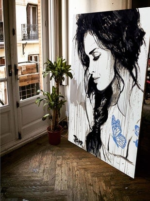 (CreativeWork) PLAY > by loui jover. Mixed Media. Shop online at Bluethumb.