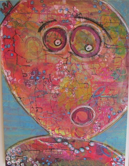 (CreativeWork) Surprise! by Sandra Carey. mixed-media. Shop online at Bluethumb.
