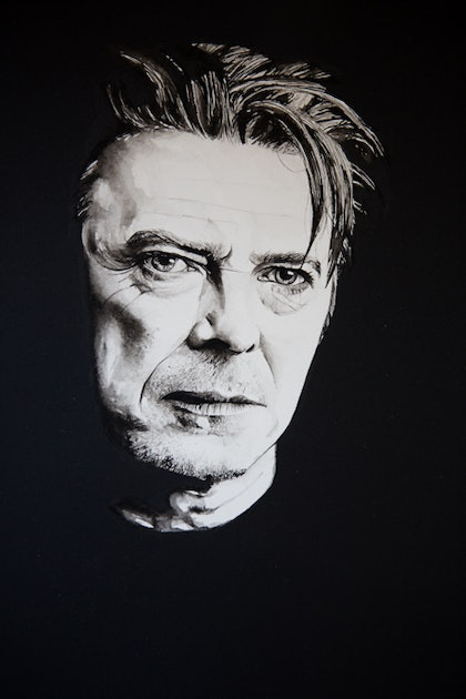(CreativeWork) Bowie by Grant Molony. arcylic-painting. Shop online at Bluethumb.