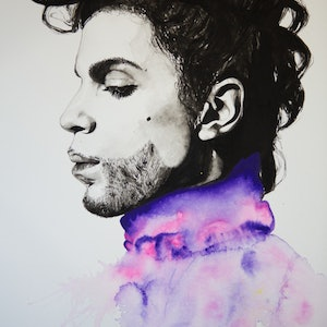 (CreativeWork) Prince by Grant Molony. arcylic-painting. Shop online at Bluethumb.