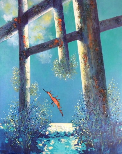 (CreativeWork) Solitude by Marilyn Townsend. mixed-media. Shop online at Bluethumb.