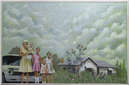 (CreativeWork) The Holden Days by Janelle White. arcylic-painting. Shop online at Bluethumb.
