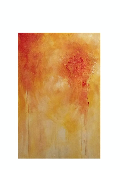 (CreativeWork) Kamikaze by Anne-Maree Wise. arcylic-painting. Shop online at Bluethumb.