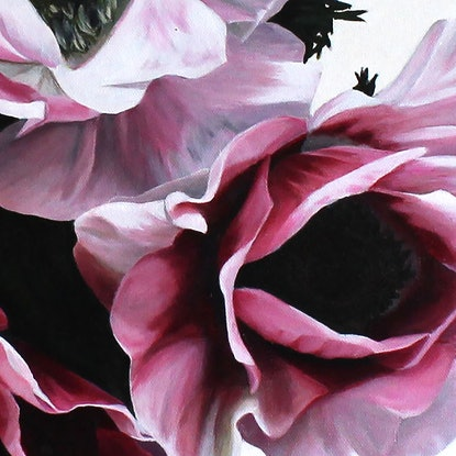 (CreativeWork) Radiant Windflowers by Freya Powell. #<Filter:0x00007f1f7cefc070>. Shop online at Bluethumb.