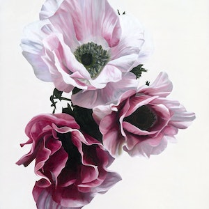 (CreativeWork) Radiant Windflowers by Freya Powell. arcylic-painting. Shop online at Bluethumb.