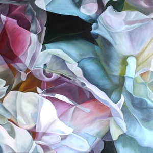 (CreativeWork) Oscillation  by Freya Powell. arcylic-painting. Shop online at Bluethumb.