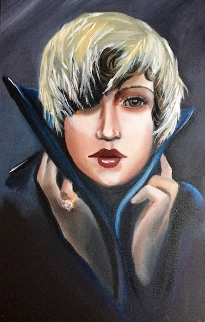 (CreativeWork) Lili by Melody Wain. oil-painting. Shop online at Bluethumb.