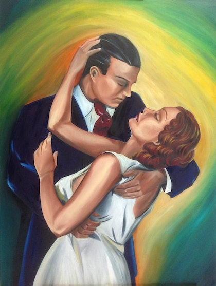 (CreativeWork) It Had To Be You by Melody Wain. oil-painting. Shop online at Bluethumb.
