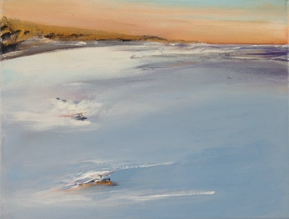 (CreativeWork) Coastal Series: Entrance 50 #5 by Michelle Wright. arcylic-painting. Shop online at Bluethumb.