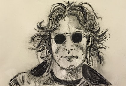(CreativeWork) The Icon Series - John Lennon by Rowena Beale. drawing. Shop online at Bluethumb.