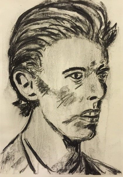 (CreativeWork) The Icon Series - David Bowie by Rowena Beale. drawing. Shop online at Bluethumb.