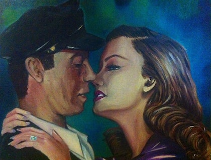(CreativeWork) Just Whistle by Melody Wain. oil-painting. Shop online at Bluethumb.