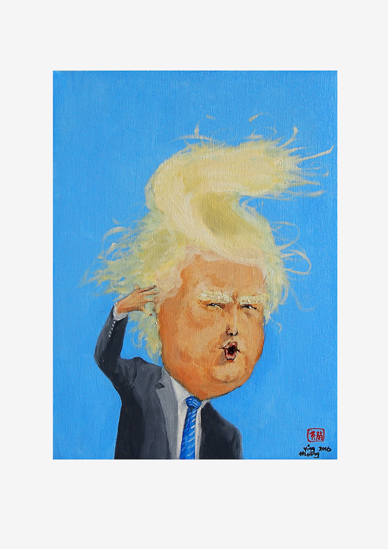 (CreativeWork) TrumpPie by ying huang. print. Shop online at Bluethumb.