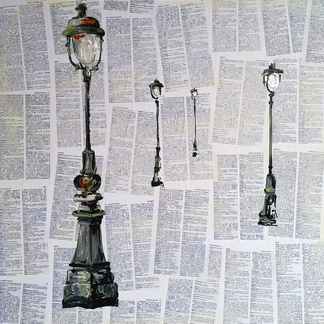 (CreativeWork) Paris Quartet by Nicole Hunt. Mixed Media. Shop online at Bluethumb.
