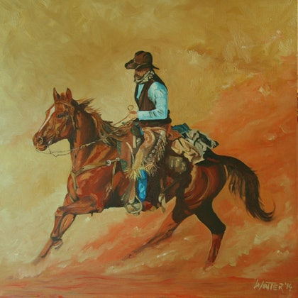 (CreativeWork) Horse 3 by Chris and Nikki Winter. arcylic-painting. Shop online at Bluethumb.