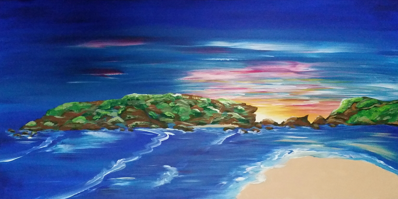 (CreativeWork) Middle Island Australian Seascape *ON SALE* by Karen McKenzie. arcylic-painting. Shop online at Bluethumb.