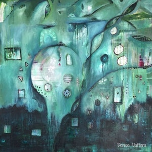 (CreativeWork) Inner Landscape  by Denise Daffara. arcylic-painting. Shop online at Bluethumb.