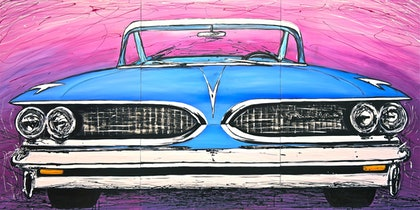 (CreativeWork) Pontiac by Cameron Gordon. arcylic-painting. Shop online at Bluethumb.
