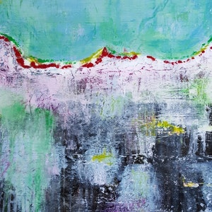 (CreativeWork) Tranquil Retreat 2 by Tracey Haustead. mixed-media. Shop online at Bluethumb.